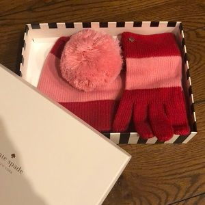 Kate Spade hat and gloves